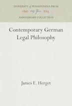Contemporary German Legal Philosophy