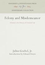 Felony and Misdemeanor